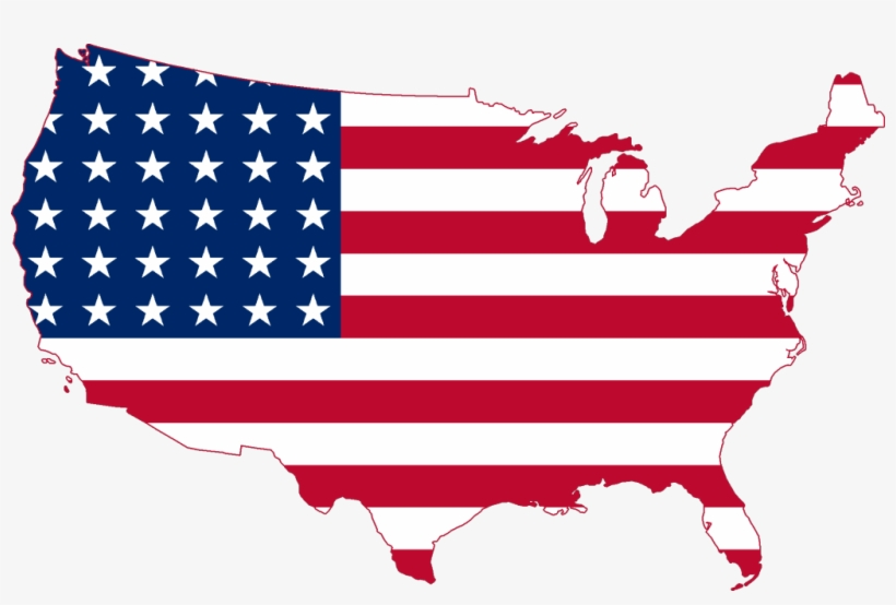 Flag Map Of United States, transparent png #314851