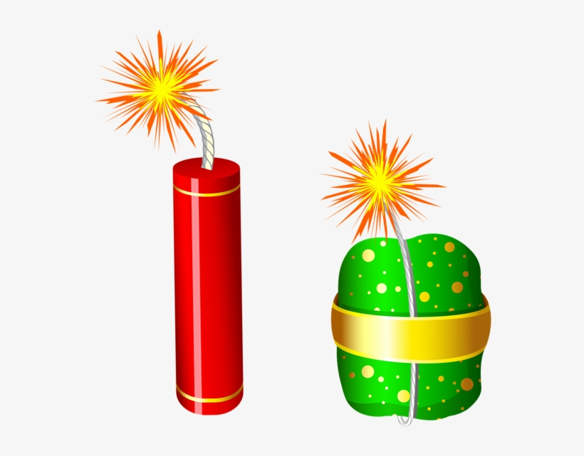 Cracker Clipart Red Firework - Crackers Clipart Png, transparent png #315848