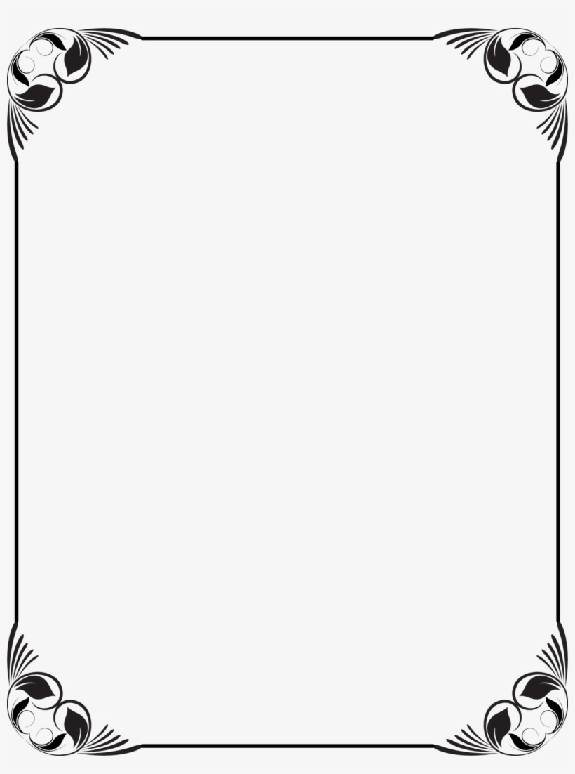 Collection Of Free Frames Vector Black And White On - Black