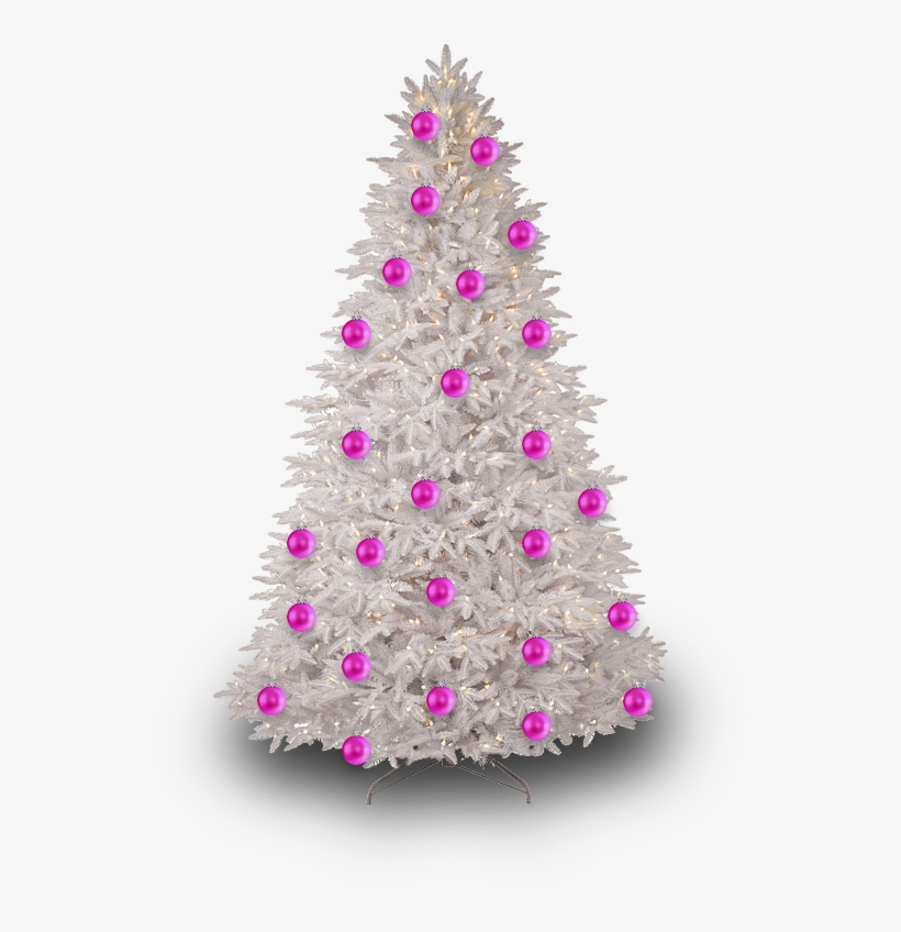 Christmas Tree Transparent Png Pictures - Pink Christmas Tree Png, transparent png #316576