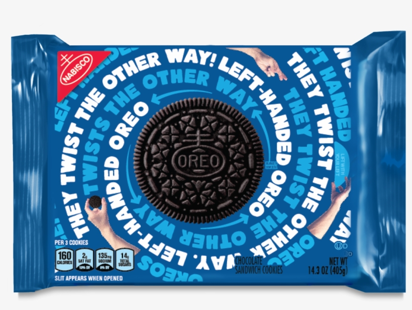 Oreo's Left-handed Box Has Packaging On The Opposite - Oreos Left Handed Package, transparent png #317106