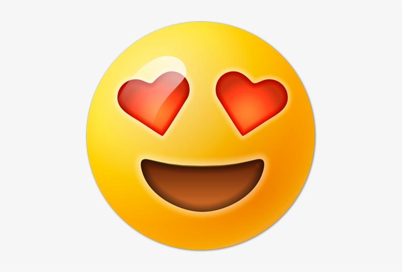 Free Heart Eyes Emoji Transparent Emoticon Ojos De Corazon Png