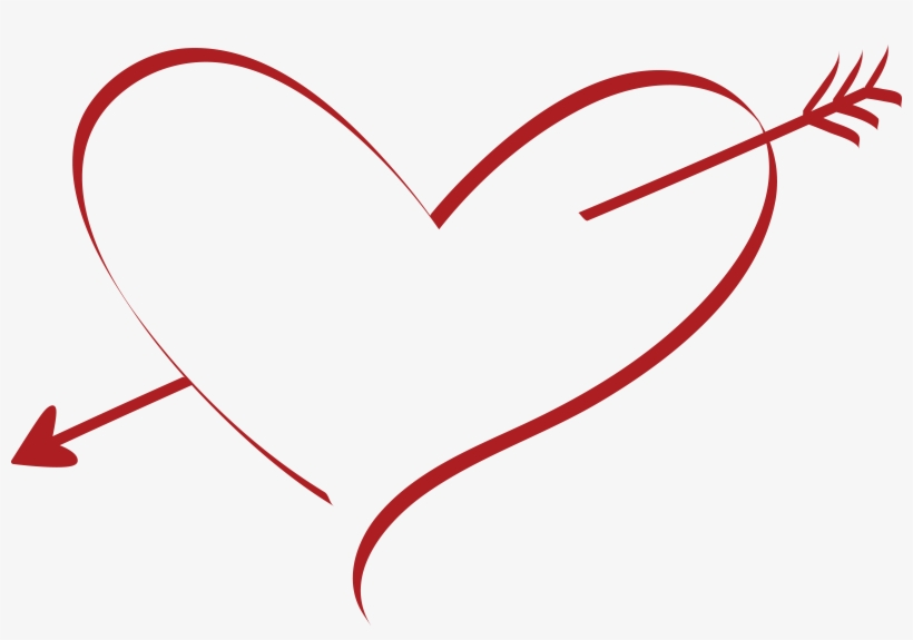 Free Clipart Of A Cupid Arrow Heart Heart With Cupid Arrow Free Transparent Png Download Pngkey