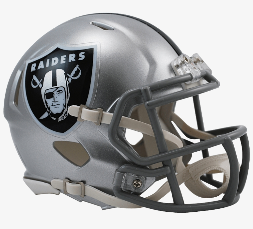 Download - Riddell Oakland Raiders Speed Mini Helmet, transparent png #319766