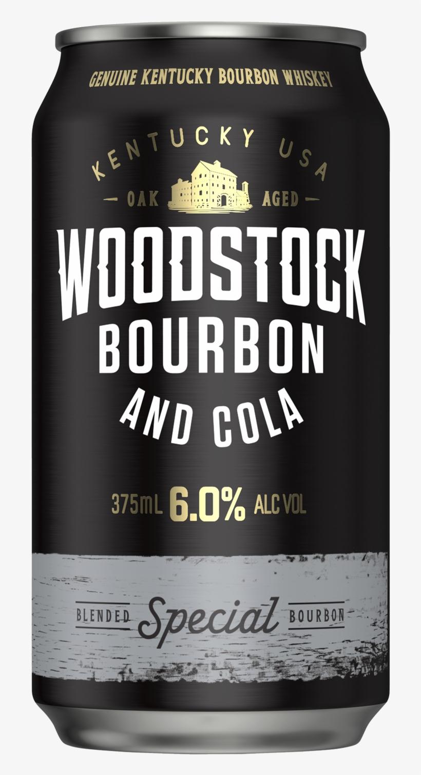 Woodstock Bourbon & Cola Cans 6% 375ml - Woodstock Bourbon & Cola 6% Cans 10 Pack, transparent png #3101227