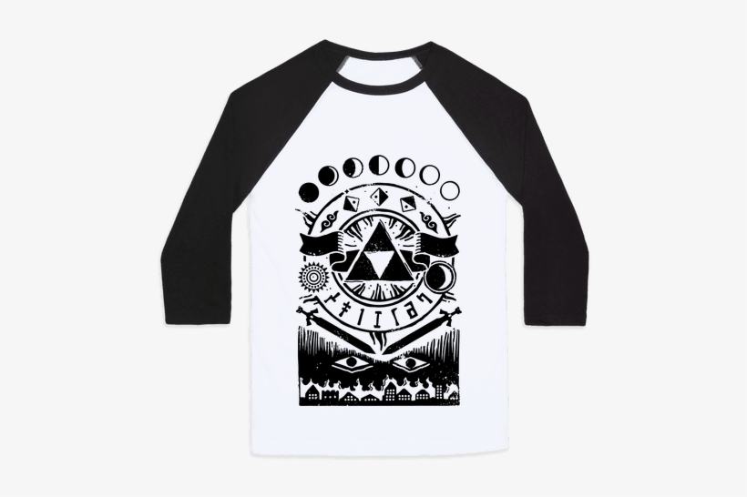 Hyrule Occult Symbols Baseball Tee - Shirts With Pick Up Lines, transparent png #3102559