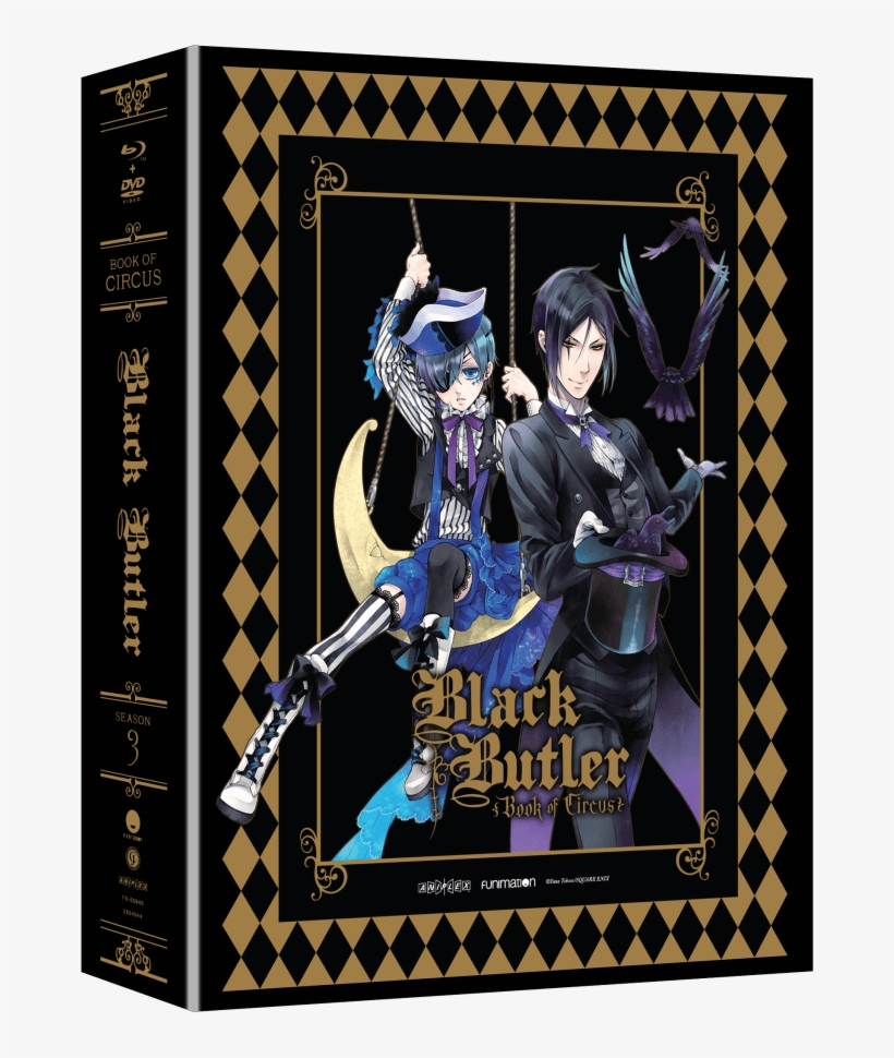 Black Butler Season - Black Butler Season 3 Limited Edition Blu Ray Dvd, transparent png #3102725