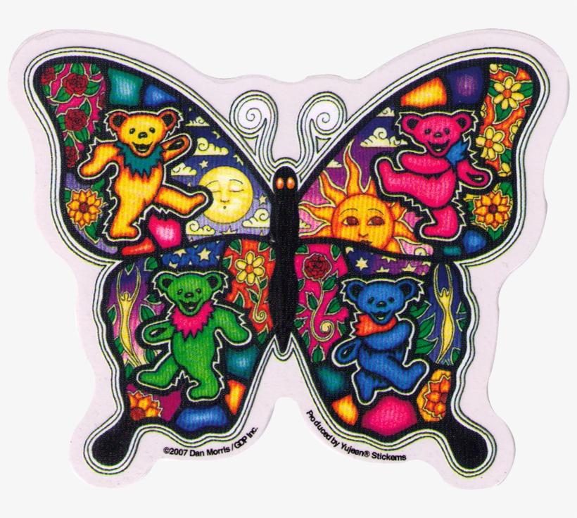 Window Sticker / Decal - Grateful Dead Butterfly Sticker, transparent png #3103394
