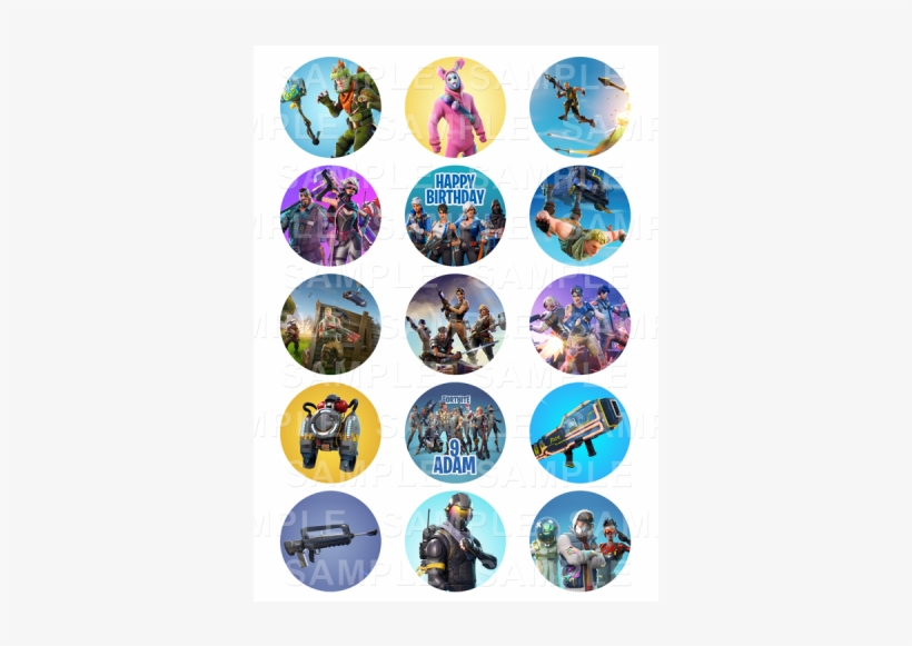 picture regarding Fortnite Printable Images named Fortnite Cupcake Toppers Printable No cost - Absolutely free Clear