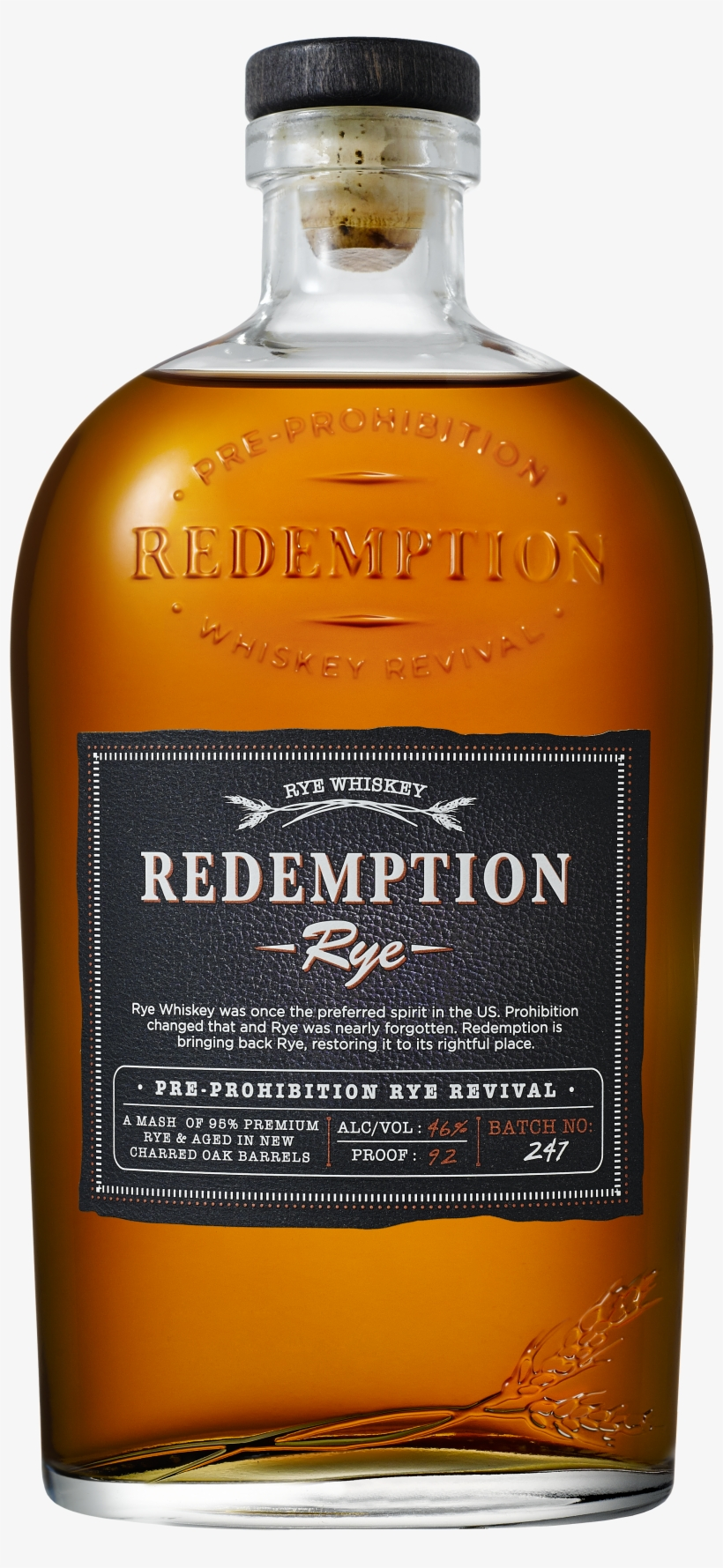 Bottle Shot Production Quality - Redemption Whiskey, High Rye Bourbon - 750 Ml, transparent png #3107335