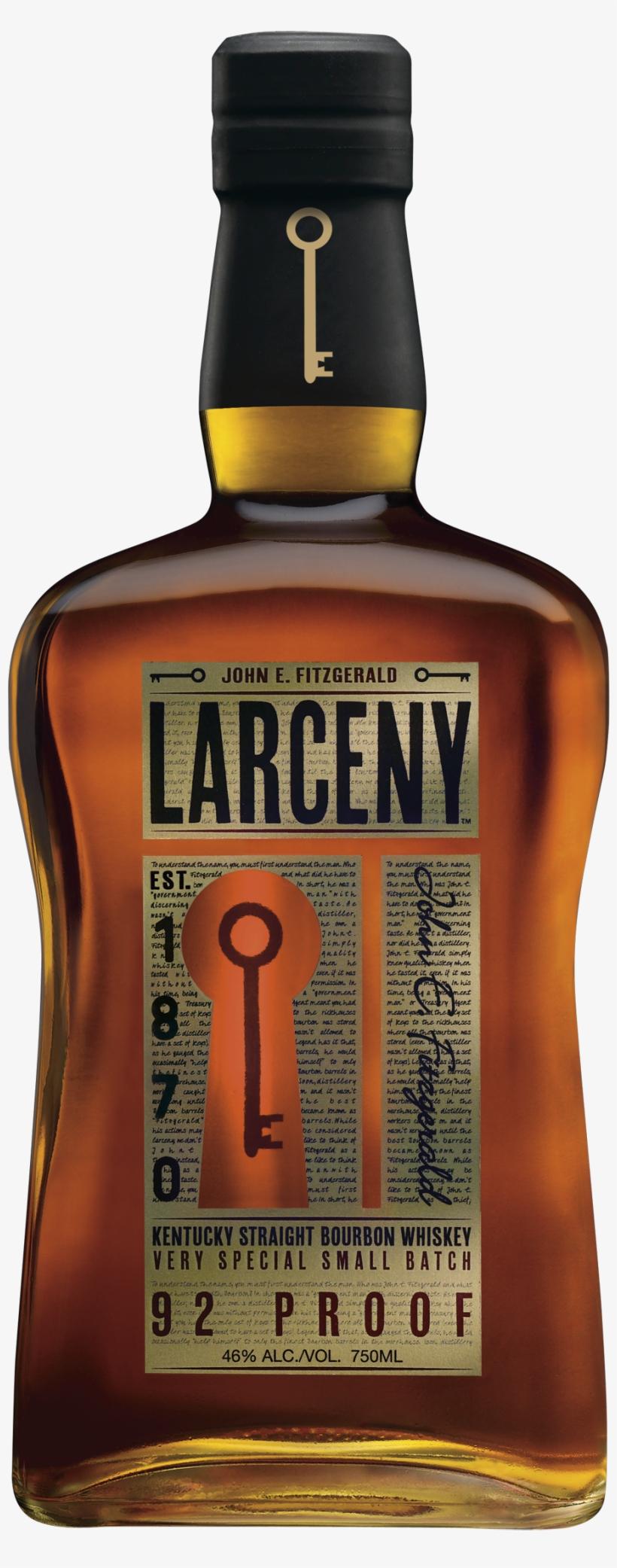 What - Larceny Bourbon Whiskey - 750 Ml Bottle, transparent png #3107567