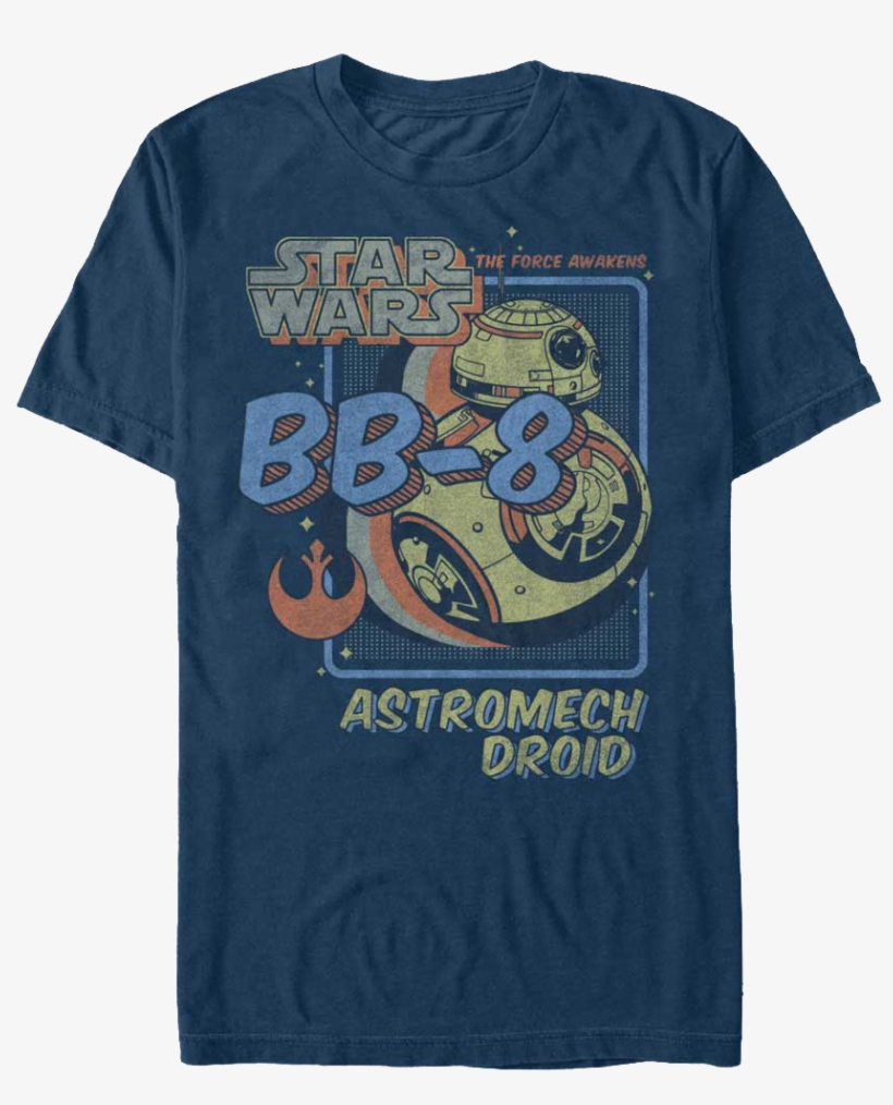 T-shirt-star-wars-ep7-bb-8-astro-droid, transparent png #3108561