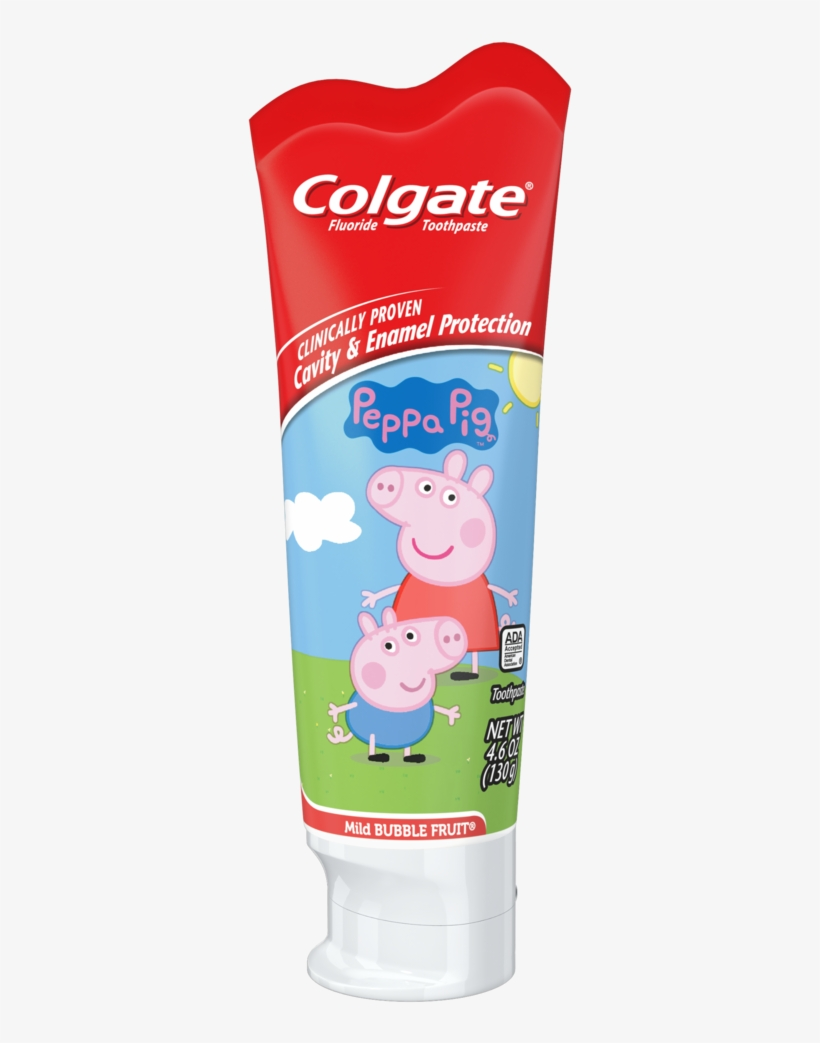 Colgate Kids Fluoride Toothpaste, Peppa Pig - Toothpaste, transparent png #3109049