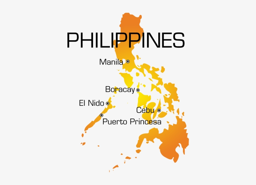Map Map Of The Philippines Outline Free Transparent Png Download