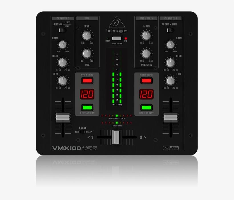 Behringer Pro Mixer Vmx100usb Professional 2-channel - Behringer Vmx 100 Usb Pro Mixer, transparent png #3111089