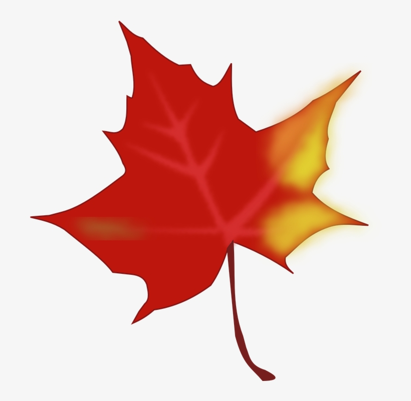 Maple Leaf Clipart Yellow Fall Leaf - Red Fall Leaf Clip Art, transparent png #3112295