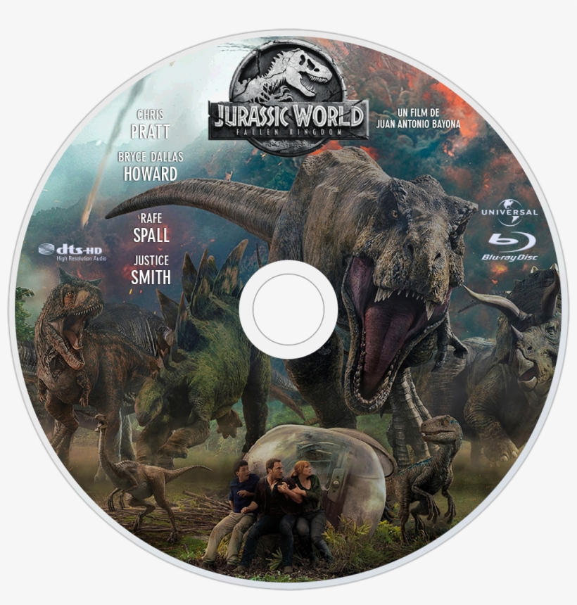 Fallen Kingdom Bluray Disc Image - Jurassic World Fallen Kingdom Blu Ray, transparent png #3113500