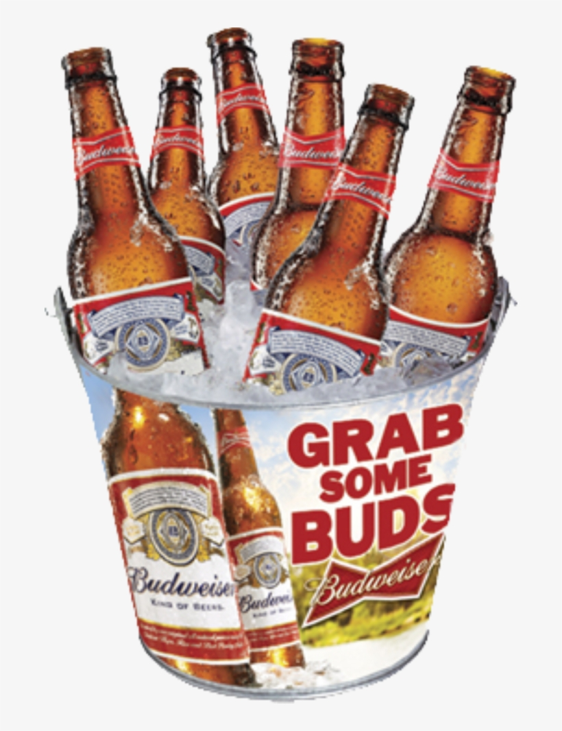 Budweiser Family Metal Bucket Budweiser Grab Some Buds Full