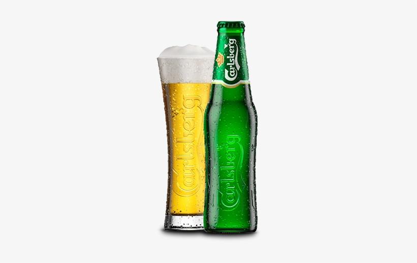 Carlsberg - Carlsberg Bottle With Glass, transparent png #3117211