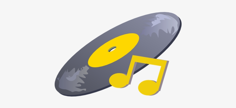 This Free Clipart Png Design Of Record With Musical - Free Music Clip Art, transparent png #3124390