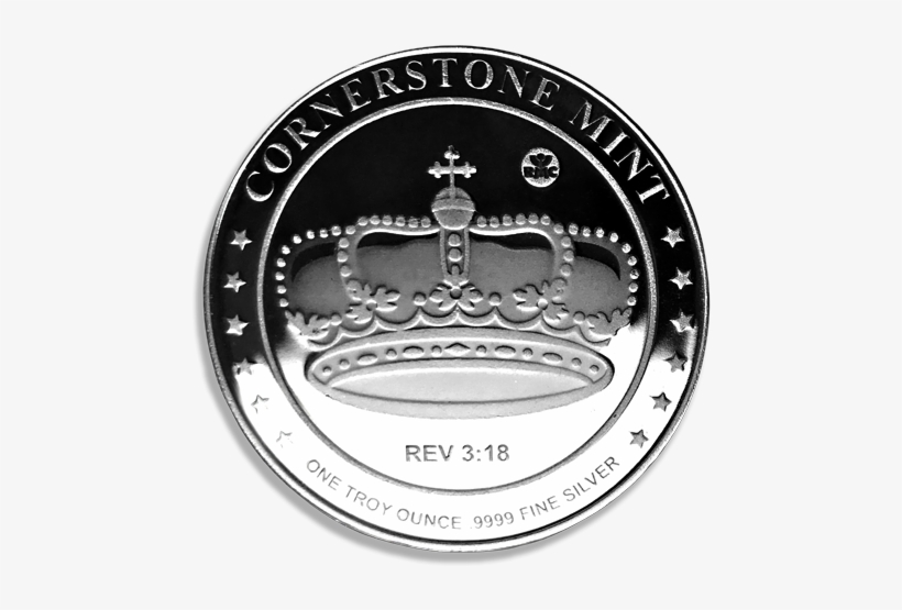 The Crown Represents The King Of Kings, Jesus Christ - Silver 1 Oz Cornerstone Crown Round, transparent png #3128575