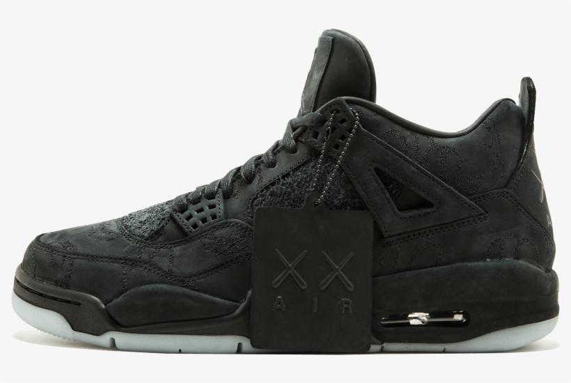 Better Air Jordan 4 Collaboration - Nike Air Jordan 4 All Black, transparent png #3129943