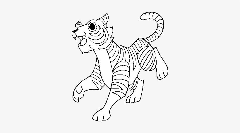 The Bengal Tiger Coloring Page - Dibujo Del Tigre De Bengala ...