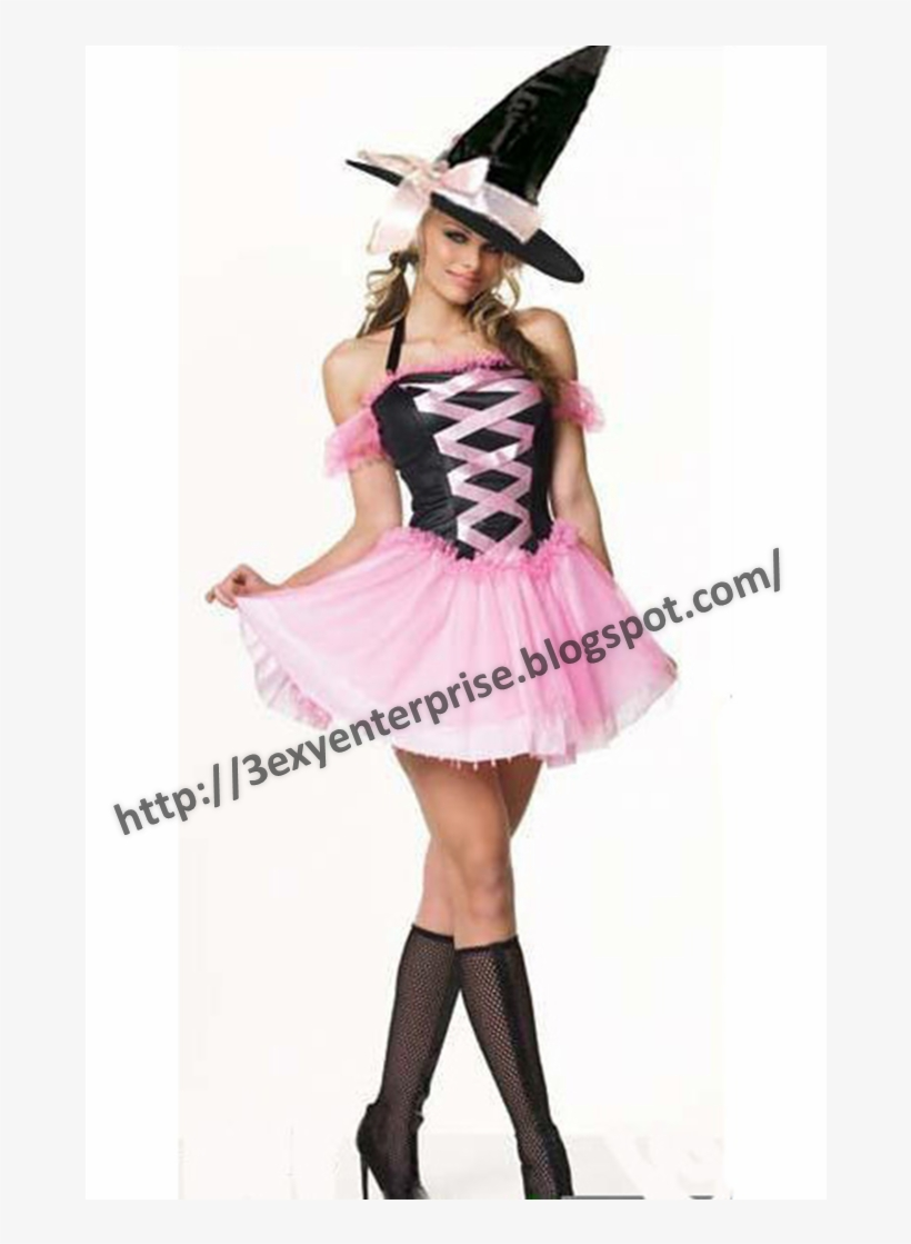 The Sexy Witch - Hot Pink Witch Costume, transparent png #3133995