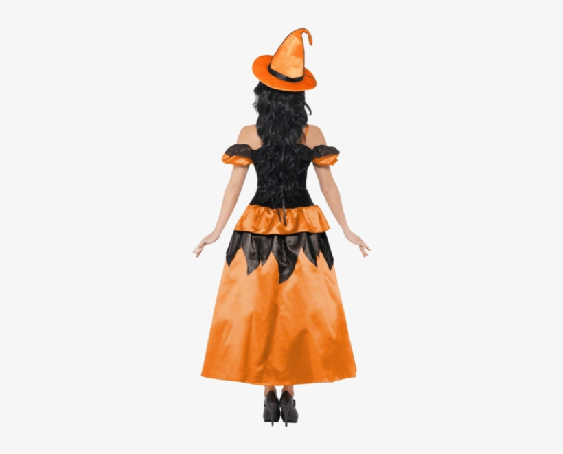 Sexy Witch Costume Orange - Adult Witch Costume With Orange, transparent png #3134255
