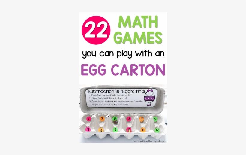 Egg Carton Math Games For First Grade - Egg Carton Subtraction, transparent png #3136926