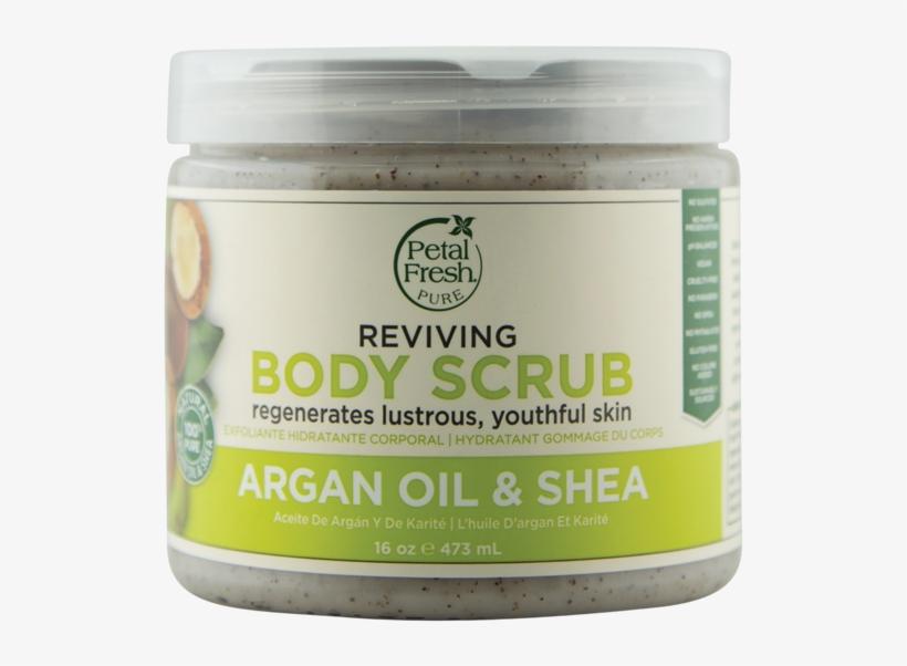 Petal Fresh Pure Argan Shea Body Scrub - Petal Fresh - Body Butter Smoothing Coconut - 8 Oz., transparent png #3137044