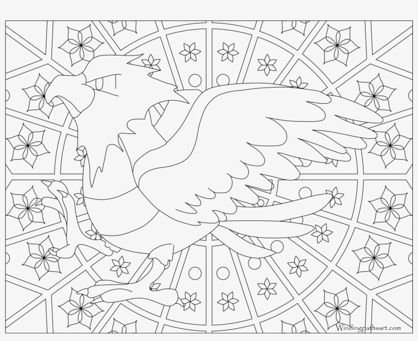 Spearow Pokemon - Pokemon Adult Coloring Pages, transparent png #3140303