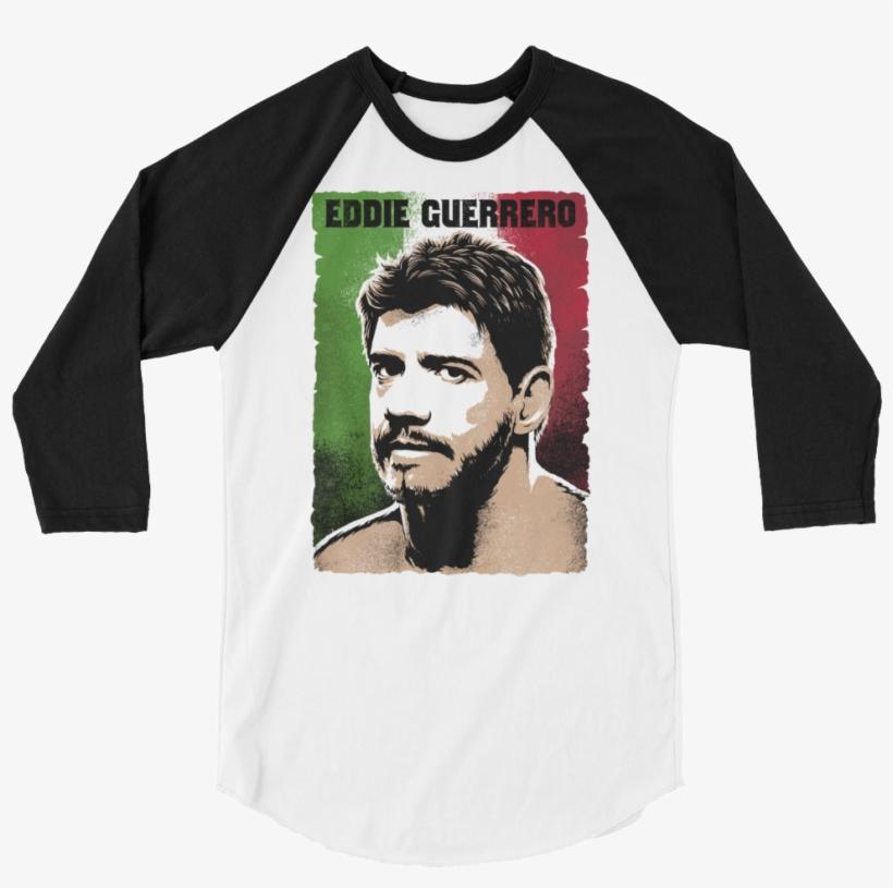 "Eddie Guerrero ""photo"" 3/4 Sleeve Raglan T-shirt - Lady In Black (raglan), transparent png #3141820"