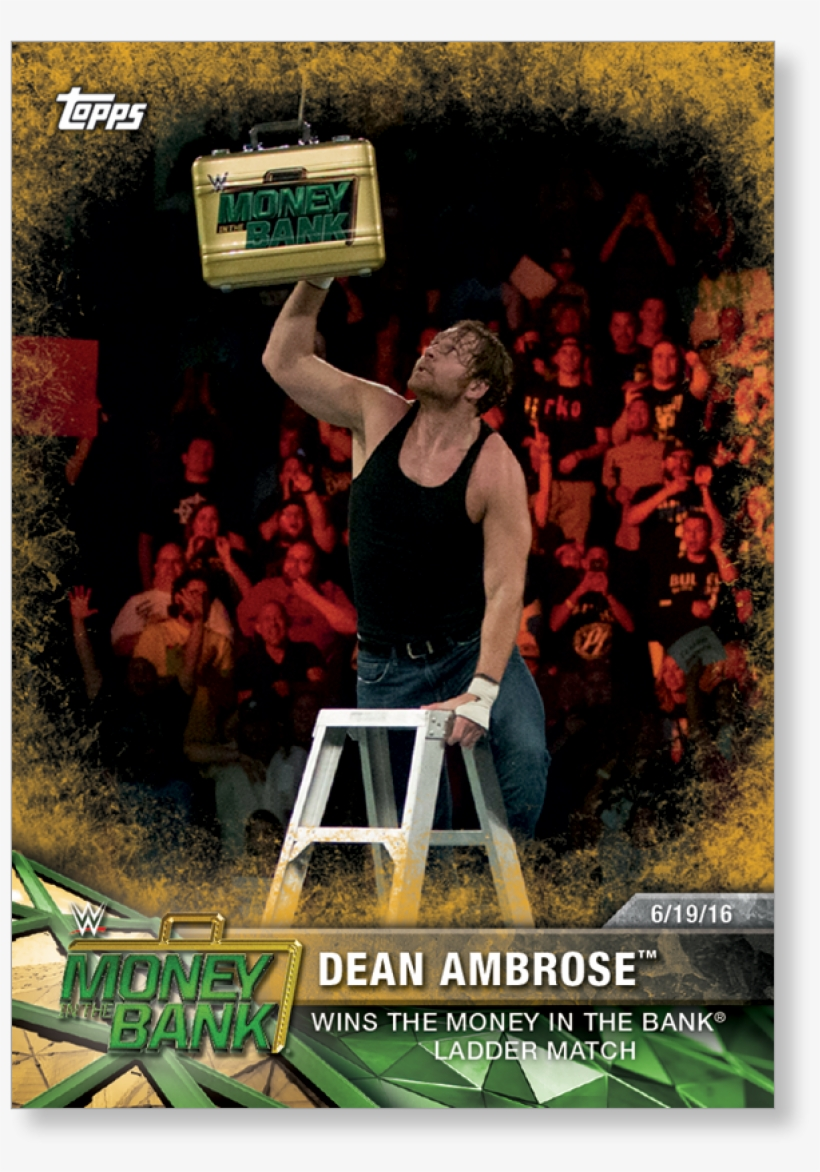 Dean Ambrose 2017 Wwe Road To Wrestlemania Base Cards - Wwe Cards 2017 Gold, transparent png #3144104