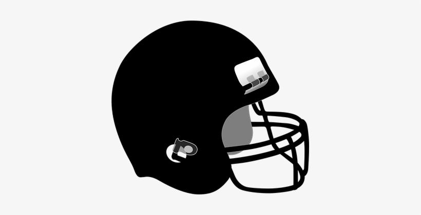 Helmet, Hockey, Hardhat, Football - Black Football Helmet Clipart, transparent png #3145606