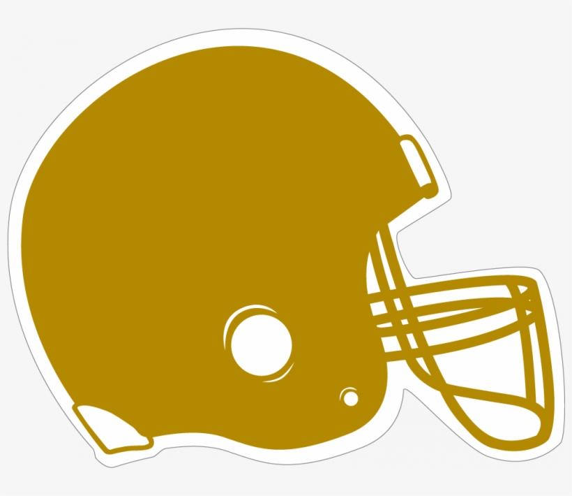 Gold Clipart Football Helmet - Red Football Helmet Clipart, transparent png #3145762