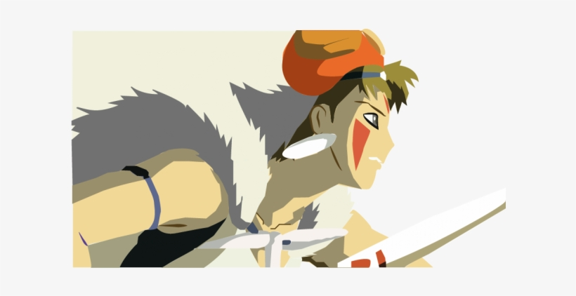 Princess Mononoke Illustrator Free Transparent Png Download Pngkey