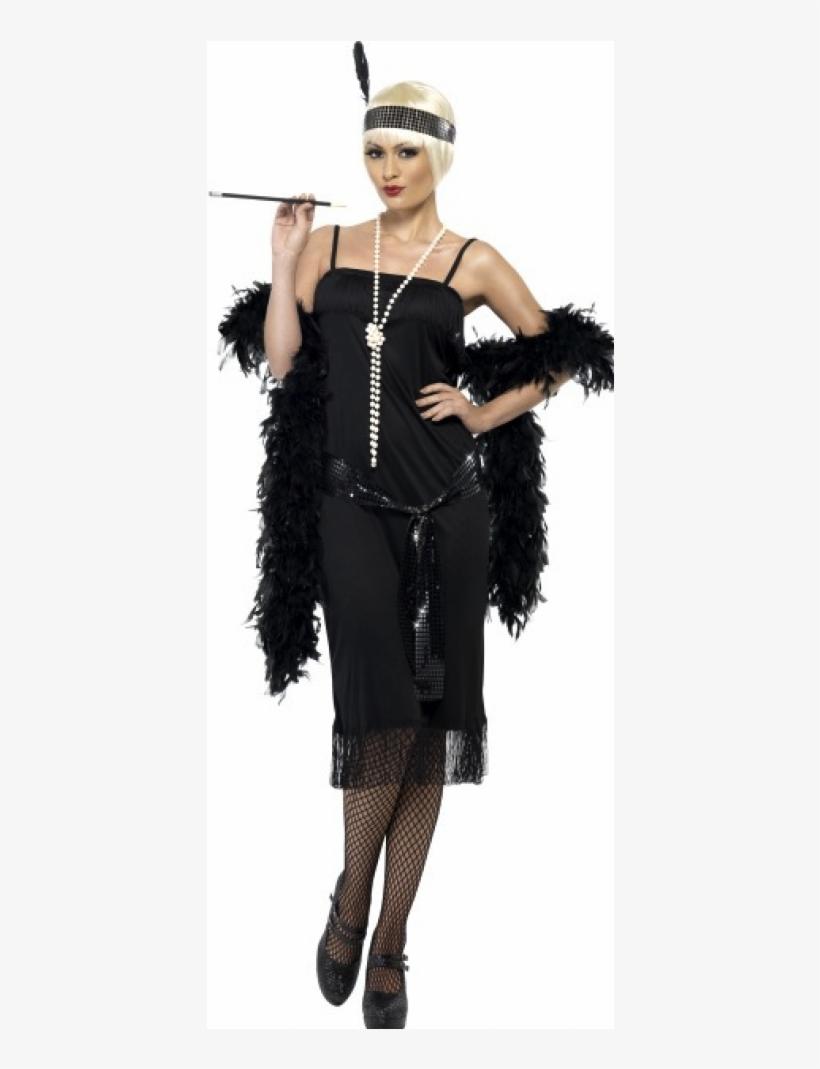 Flapper Girl Costume Adult Halloween Fancy Dress, transparent png #3146856