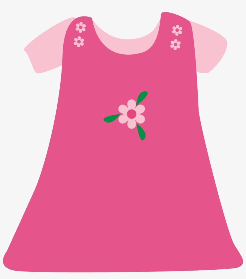 Baby Girl Pink Dress - Girl Dress Clip Art - Free ...