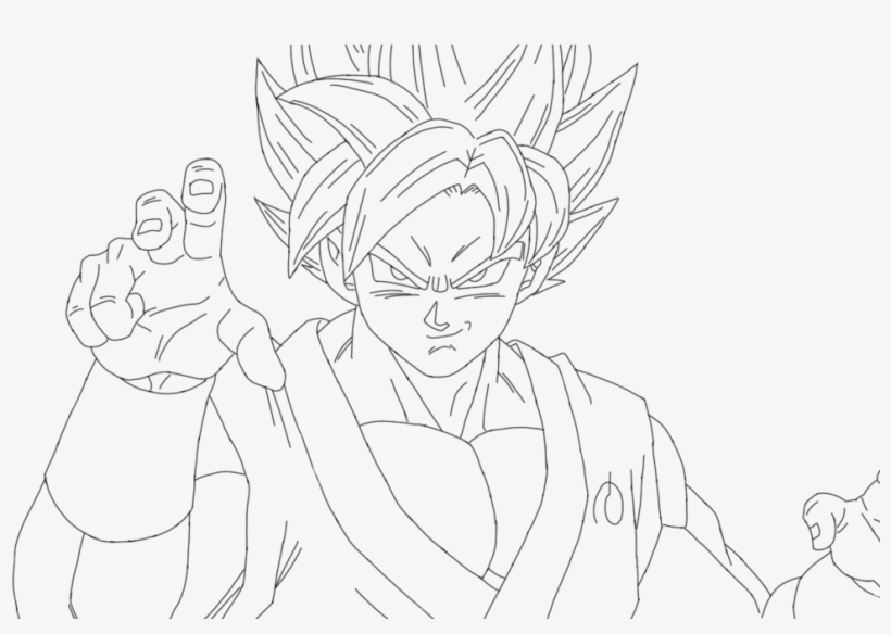 Ssgss Goku Drawings - Dragon Ball Super Coloring Pages Goku, transparent png #3148011