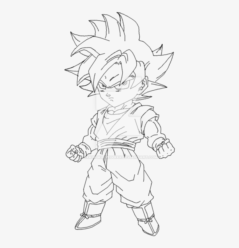 Chibi Goku Drawing Goku Super Saiyan Drawing Easy Free
