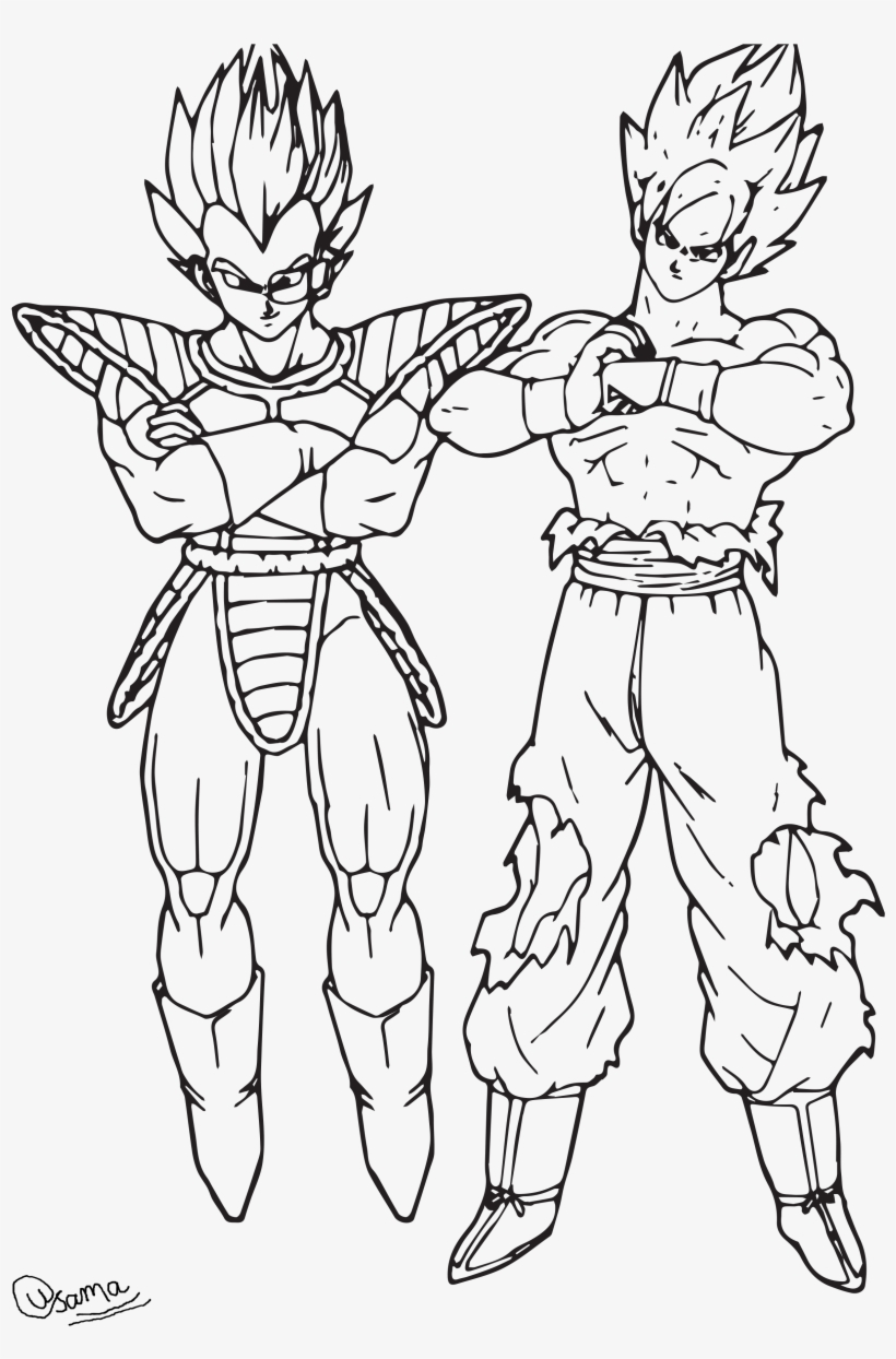 Raditz And Goku - Dragon Ball Goku Coloring Pages - Free ...
