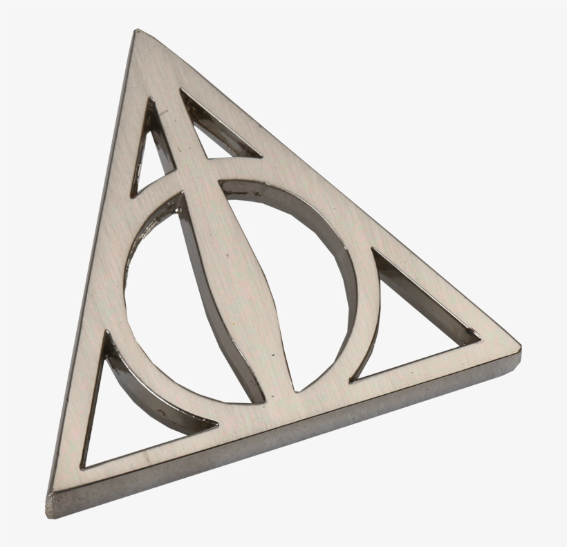 Deathly Hallows Pin Badge - Harry Potter Deathly Hallows Pin Badge, transparent png #3150229