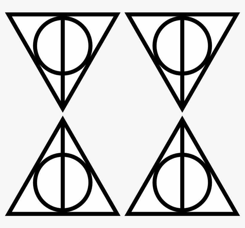 Deathly Hallows Symbol Transparent - Deathly Hallows Symbol, transparent png #3150309