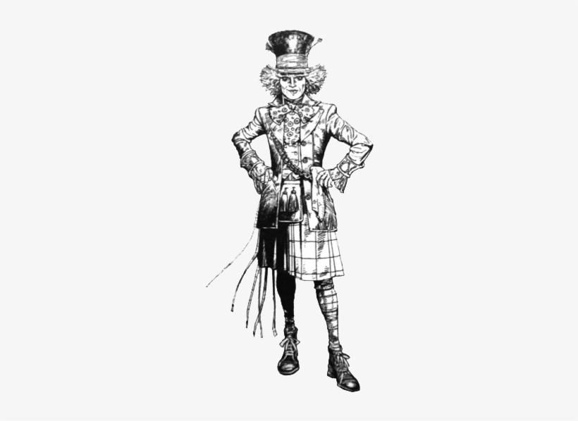 Hatter - Mad Hatter Alice In Wonderland Coloring Pages, transparent png #3150568