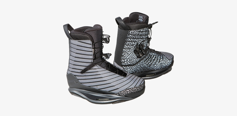 2018 Ronix One Boot Flash Black Closed Toe Wakeboard - 2018 Ronix One Flash Black Boot Eu 47-48/us 13-14, transparent png #3152343