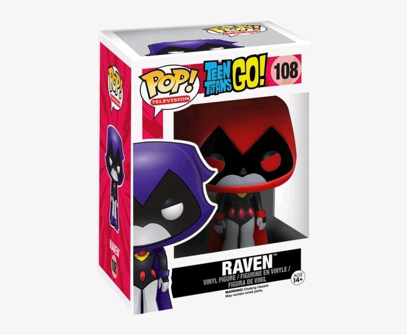 Teen Titans Go - Teen Titans Go! Raven Red Pop! Vinyl Figure, transparent png #3154054
