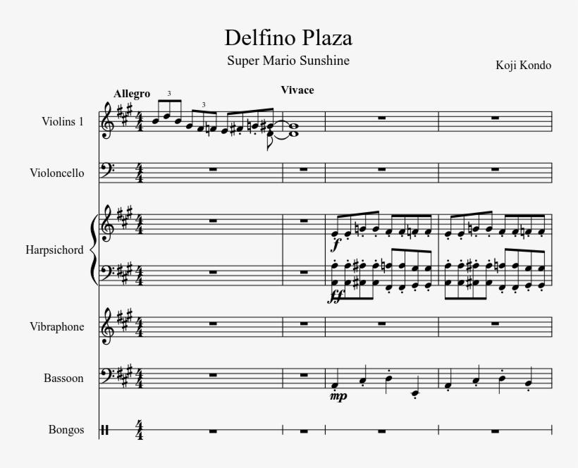 Delfino Plaza Sheet Music Composed By Koji Kondo 1 - Sheet
