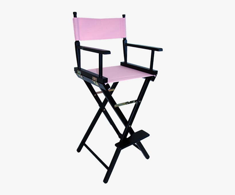 The Tall Directors Chair In Black Wood With A Pink - Personalised Directors Chair Uk, transparent png #3162596