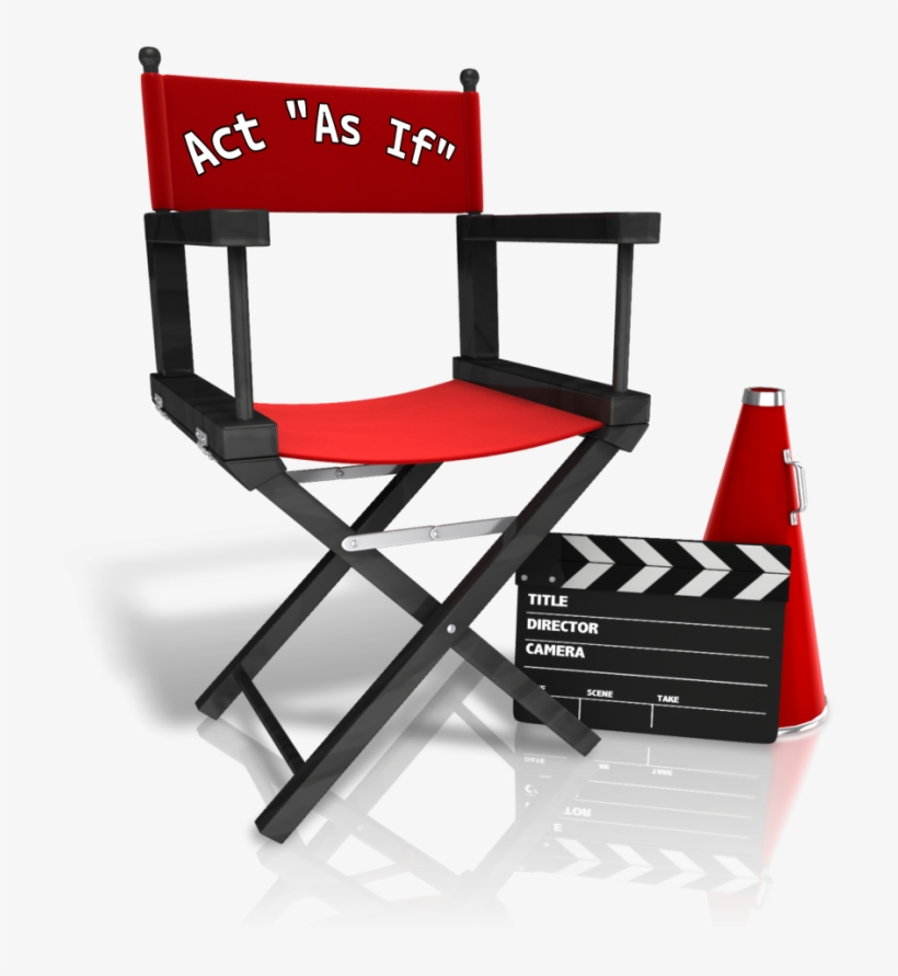 Director Chair Act As If - Directors Chair Png, transparent png #3162614